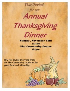 Community Thanksgiving Meal @ Flat Community Center | Texas | United States